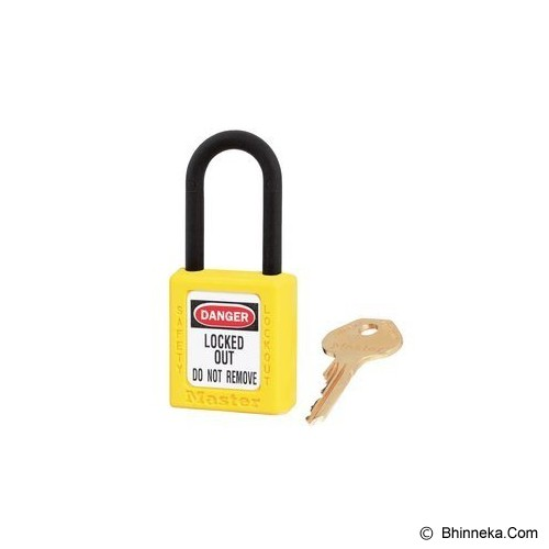 MASTER LOCK Thermoplastic Safety Lockout [406] - Yellow - Kunci Gembok
